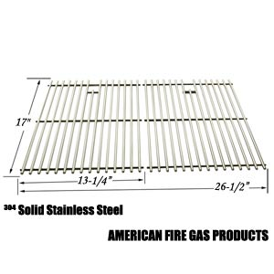 Replacement Stainless Steel Cooking Grid Replacement for Kenmore 122.16119, 122.16129, 122.16641900, 122.16641901, 16641, 415.16107110, 720-0341, 720-0549, 415.1610621, 720-0670A Gas Grill Models, Set of 2