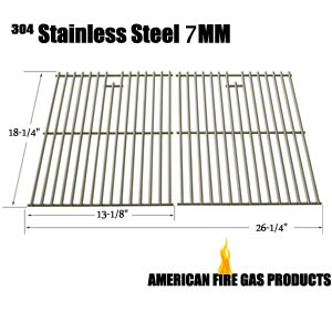 Stainless Steel Cooking Grid for Charbroil 463247009, 463247109, 463248108, 463257010, 463257110, 463261007, 463261107, 463261709, 463268007, Coleman 85-3028-6, G52203, G52204, Even Heat, G52202 Gas Grill Models, Set of 2