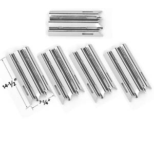 5 Pack Replacement Kit For Vermont Castings, CF9030, CF9050, CF9055 3A, CF9055 3B, CF9056, CF9080, CF9085, CF9085 3A, CF9085 3B, CF9086, Experience, Gas Grill Models - 5 Stainless Burners and 5 Heat Shields