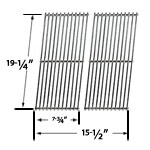Stainless Steel Cooking Grid Replacement for Perfect Flame GSC3318, Perfect Flame GSC3318N, Perfect Flame 25586, Perfect Flame 225203 Gas Grill Models, Set of 2