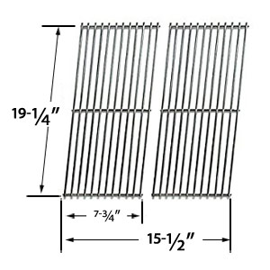Replacement Stainless Steel Cooking Grid Replacement for Perfect Flame GSC3318, Perfect Flame GSC3318N, Perfect Flame 25586, Perfect Flame 225203 Gas Grill Models, Set of 2