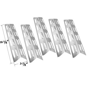 5 Pack Replacement Stainless Steel Heat Plate/shield for Backyard Grill BY12-084-029-97 Master Forge B10LG25, Presidents Choice 09011020 and Lowes SLG2007A, 61701 SLG2007B, 63033, SLG2007BN, 64876, SLG2007D, 65499, SLG2007DN, 67119, SLG2008A, 61701 Gas Gr