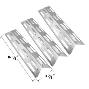 3 Pack Replacement Stainless Steel Heat Plate/shield for Kenmore, Master Forge, Perfect Flame 2518SL-LPG, SLG2006C, 14103 SLG2006CN, 225198 SLG2007A, SLG2007B, 63033 SLG2007BN, 64876 SLG2007D, 65499 SLG2007DN, 67119, SLG2008A, 61701 and BBQTEK GSF2818K, G