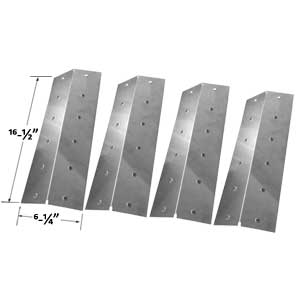 Stainless Steel Heat Plate For Nexgrill 720-0057, 720-0057-3B, 720-0057-4B (4-PK) Gas Models