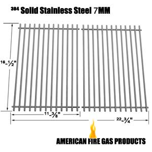 Stainless Steel Cooking Grid for Ellipse 2000LP, 2000NG, 2001LP, 2001NG, 22103, 2104, 2105, 2107, 2108, 2100, 2101, 2102, 2103, Kenmore 2104, 2105, 2107, 2108, 141.15227, 141.152271, 141.15337 Gas Grill Models, Set of 2